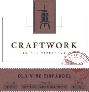 Craftwork 2019 Zinfandel Front Label – transp