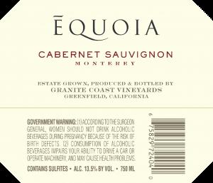 Equoia NV Cabernet Sauvignon Back Label – transp