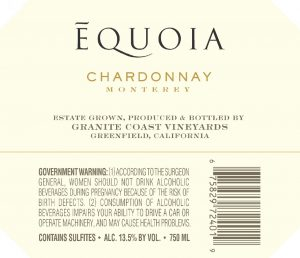 Equoia NV Chardonnay Back Label