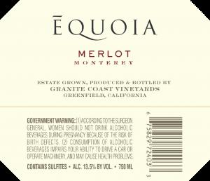 Equoia NV Merlot Back Label – transp
