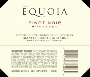 Equoia NV Pinot Noir Back Label – transp