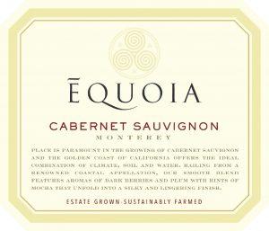 Equoia NV Cabernet Sauvignon Front Label