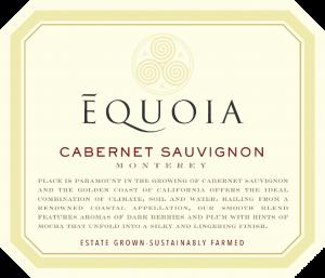 Equoia NV Cabernet Sauvignon Front Label – transp