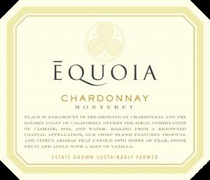 Equoia NV Chardonnay Front Label – transp