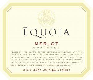 Equoia NV Merlot Front Label