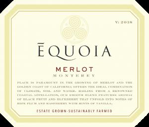 Equoia NV Merlot Front Label – transp
