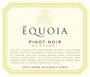Equoia NV Pinot Noir Front Label