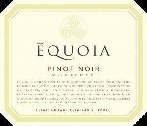 Equoia NV Pinot Noir Front Label – transp