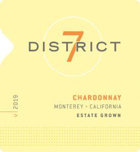 District 7 2019 Chardonnay Front Label