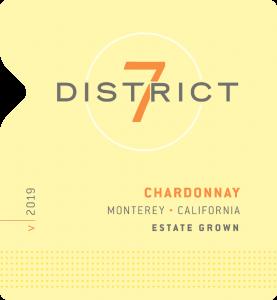 District 7 2019 Chardonnay Front Label – transp