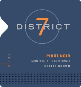 District 7 2019 Pinot Noir Front Label