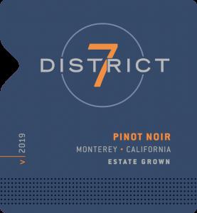District 7 2019 Pinot Noir Front Label – transp