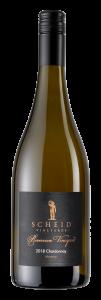 Scheid Vineyards 2018 Reserve Chardonnay Riverview Bottle Shot -transp
