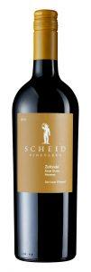 Scheid Vineyards 2018 Zinfandel Bottle shot -highres