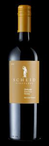 Scheid Vineyards 2018 Zinfandel Bottle shot -transp