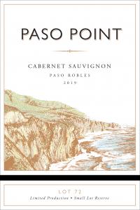 Paso Point 2019 Cabernet Sauvignon Front Label -transp