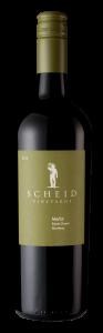 Scheid Vineyards 2018 Merlot Bottle shot -transp