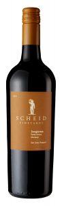 Scheid Vineyards 2018 Sangiovese Bottle shot -highres