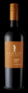 Scheid Vineyards 2018 Sangiovese Bottle shot -transp
