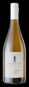 Scheid Vineyards 2019 Chardonnay Bottle shot -transp