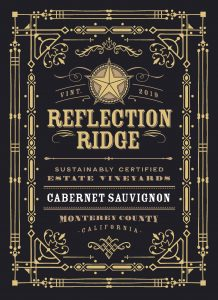 Reflection Ridge 2019 Cabernet Sauvignon front label -highres