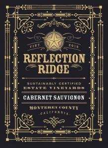 Reflection Ridge 2019 Cabernet Sauvignon Front label -transp