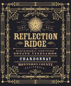Reflection Ridge 2019 Chardonnay front label- highres
