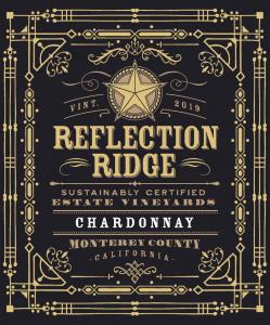 Reflection Ridge 2019 Chardonnay front label -transp