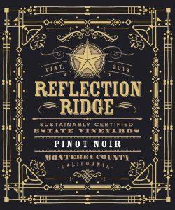 Reflection Ridge 2019 Pinot Noir front label -highres