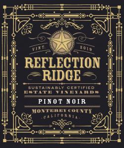 Reflection Ridge 2019 Pinot Noir front label -transp