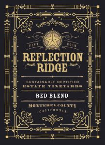 Reflection Ridge 2019 Red Blend front label -highres