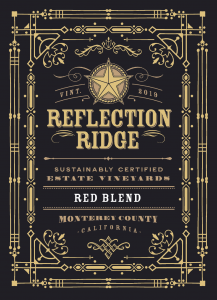 Reflection Ridge 2019 Red Blend front label -transp