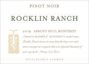 Rocklin Ranch 2019 Pinot Noir front label