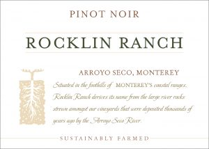 Rocklin Ranch NV Pinot Noir front label