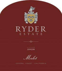 Ryder Estate 2020 Merlot front label -highres