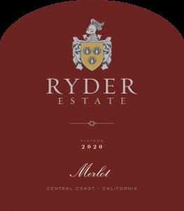 Ryder Estate 2020 Merlot front label -transp