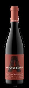 Andover Estate 2019 Pinot Noir Bottle Shot – transp
