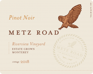 Metz Road 2018 Pinot Noir Front Label – transp