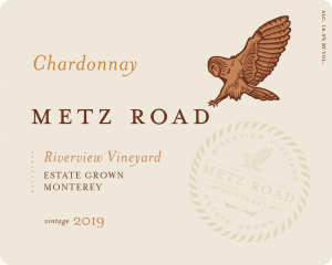 Metz Road 2019 Chardonnay front label – transp