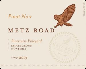 Metz Road 2019 Pinot Noir Front Label – transp