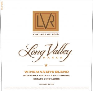 Long Valley Ranch 2018 Winemaker's Red Blend Front Label -highres