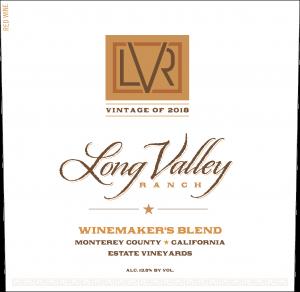 Long Valley Ranch 2018 Winemaker's Red Blend Front Label -transp