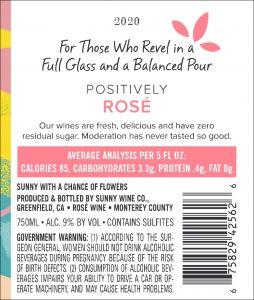 Sunny 2020 Rose Back Label