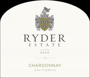 Ryder Estate 2020 Chardonnay Front Label -transp