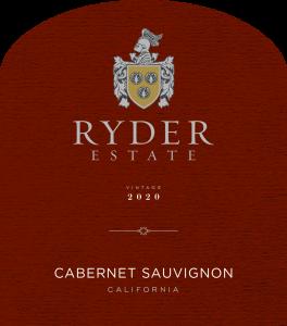 Ryder Estate 2020 Cabernet Sauvignon Front Label -transp
