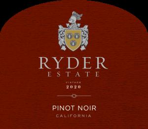 Ryder Estate 2020 Pinot Noir Front Label -transp