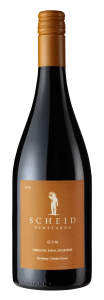 Scheid Vineyards 2018 GSM Bottle Shot -transp